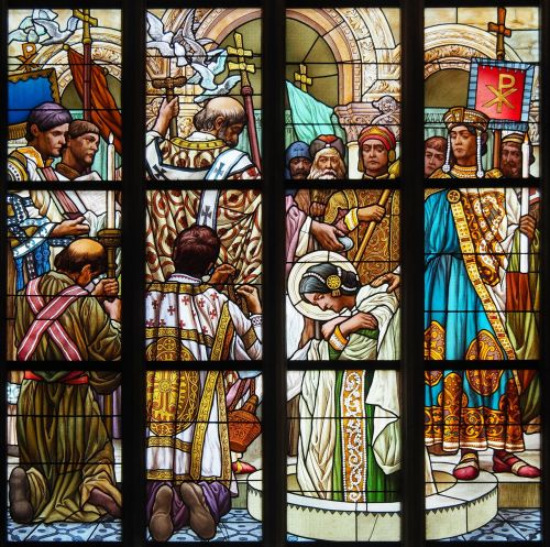 stained-glass windows baptism christianity