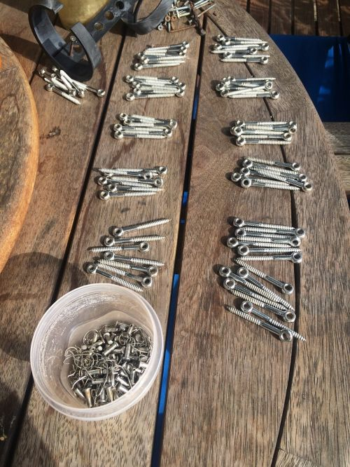 stainless steel parts wire fence parts screws