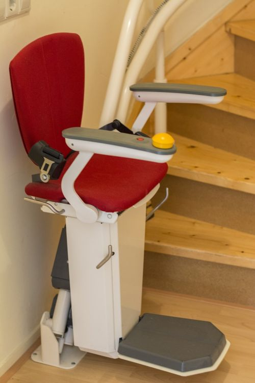 stair lift elevator trap