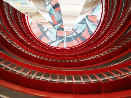 staircase futuristic architecture