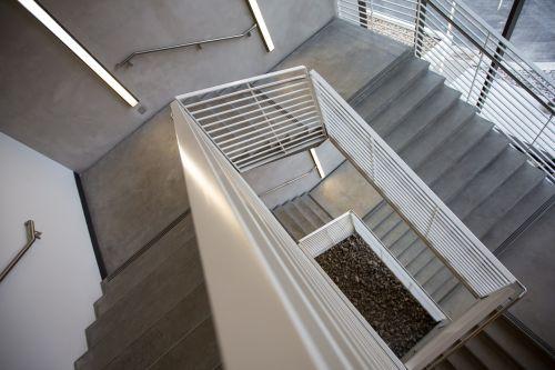 laiptinė, laiptai, žingsniai, lipti, laiptinė, betonas, architektūra, lygiai, grindys, pastatas, interjeras