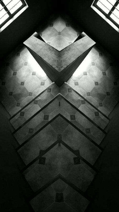 staircase black and white black