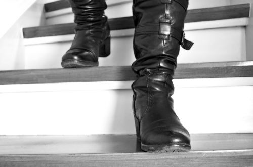 stairs boots leather boots