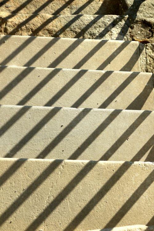 stairs gradually shadow