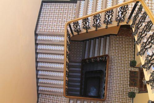 stairs mosaics architecture
