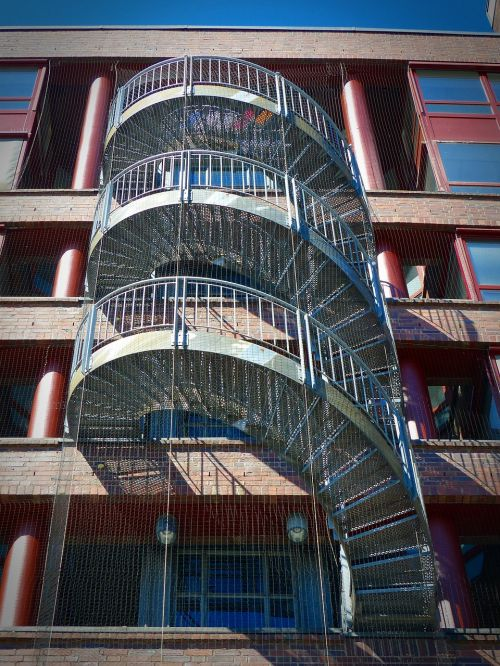 stairs escape route staircase finish