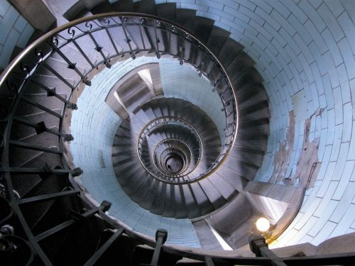 stairs lighthouse spiral staircase