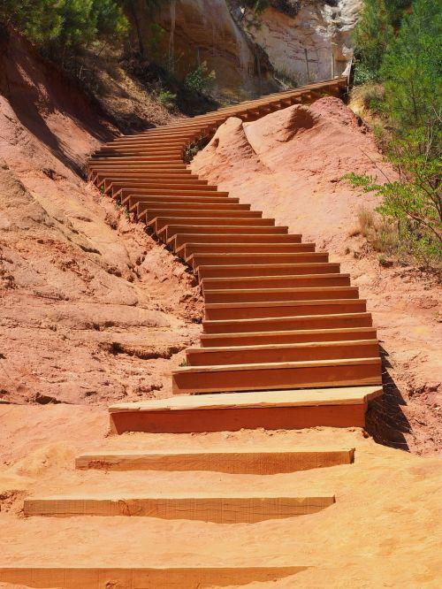 stairs gradually nature park