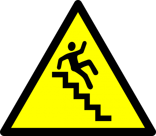stairs caution hazard