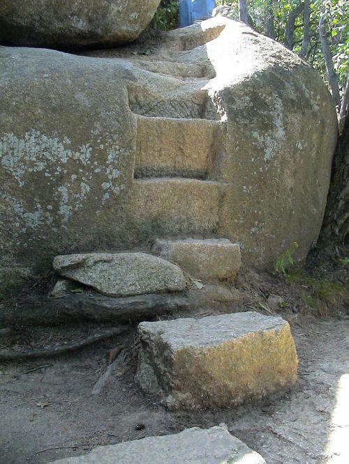 stairs gradually stone steps