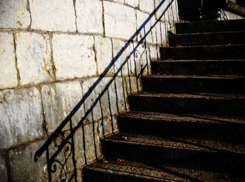 stairs treppengeländer shadow