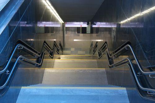 stairs underpass metro