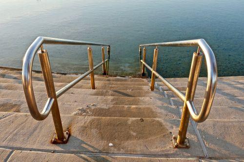 stairs steps pool