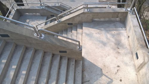 stairs concrete handrail
