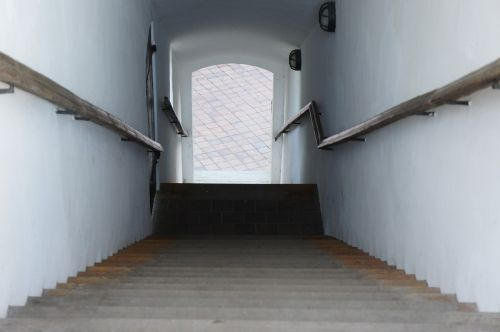 stairs gradually down
