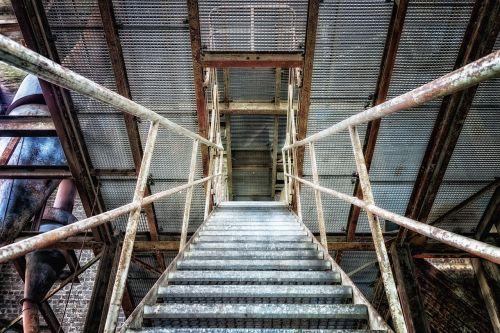 stairs metal iron