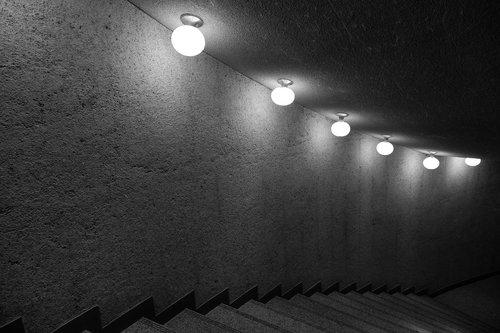 stairs  stairway  dark hall
