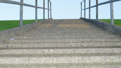 stairs gradually railing
