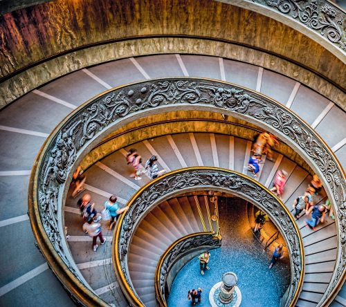 stairs circular staircase vatican museum