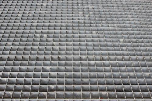 stairs grid metal