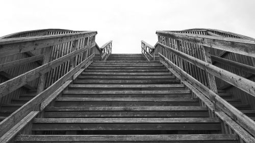 stairs wooden ladders emergence