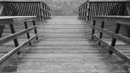 stairs wooden ladders finish