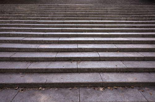 stairs empty grey