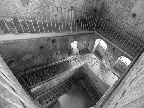 stairs old tower torre