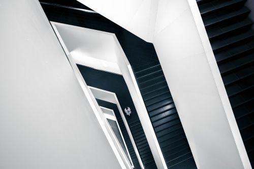 laiptinė, laiptai, laiptinė, pastatas, architektūra, grindys, perspektyva, žingsniai, interjeras