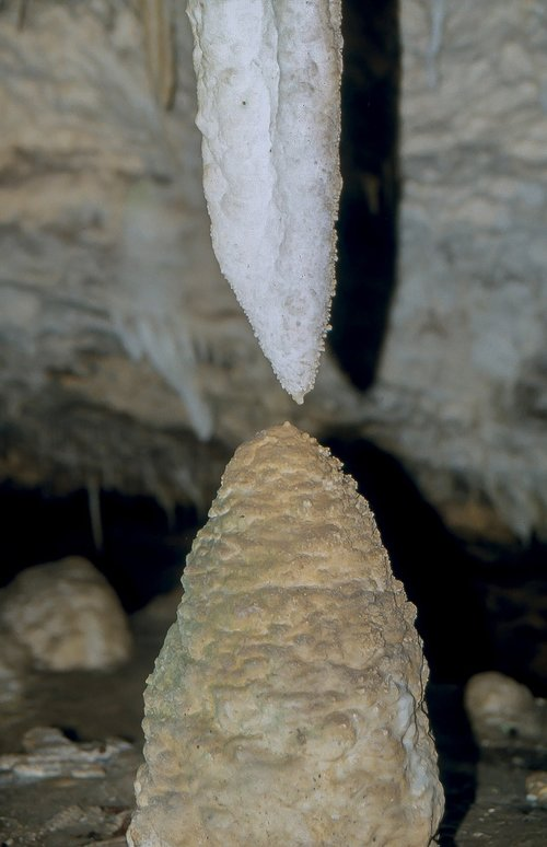 stalactite  top  stalagmite