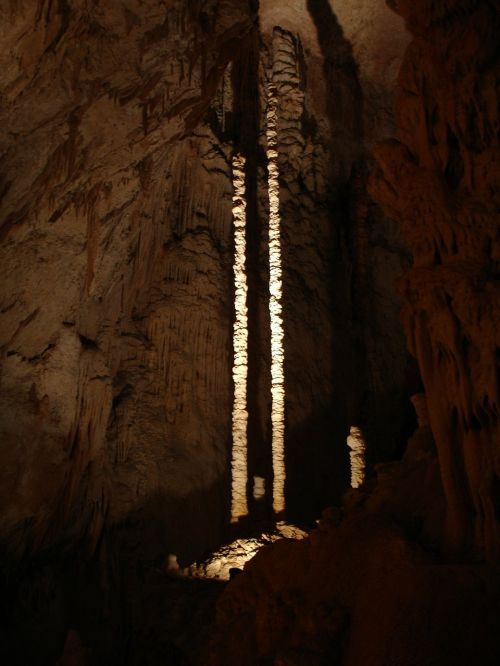 stalactite speleothems aven d'orgnac
