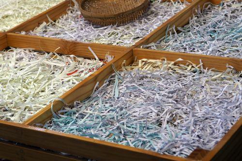 stall shredded paper stalls selling eggs