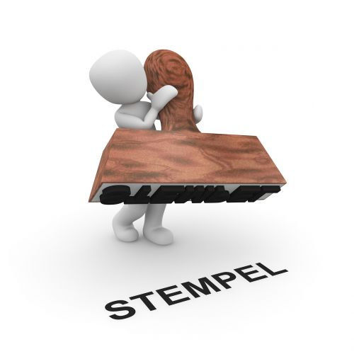stamp press up imprint