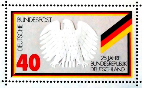 stamp 25 years federal republic of germany