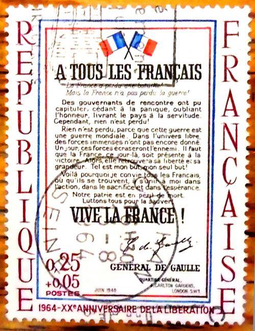 stamp france 1964