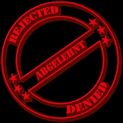 stamp rejected denied