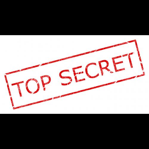 stamp top secret secret