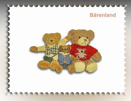 stamp bear cuddly