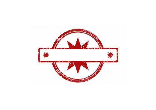 stamp template red