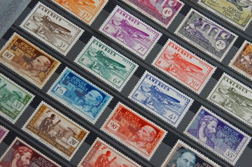stamps collection french stamps