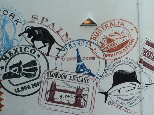 stamps passport textures