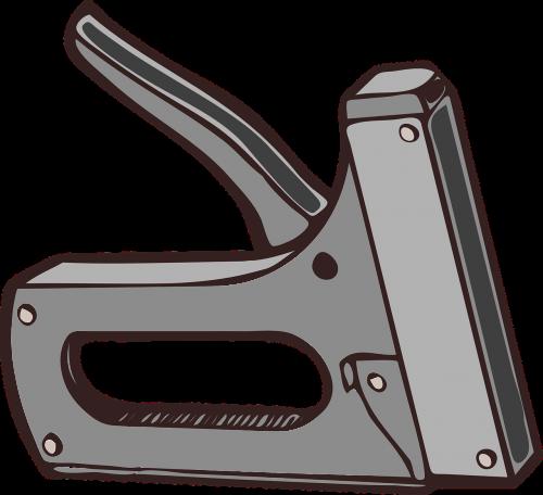 stapler office gray