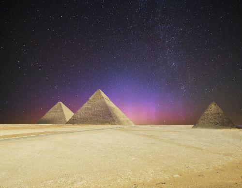 star night sky pyramids