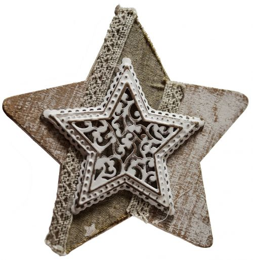 star vintage decoupage