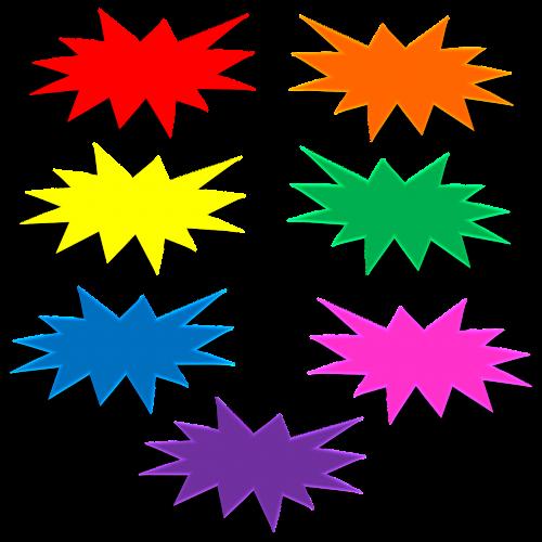 star 3d bursts