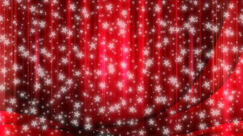 star christmas curtain