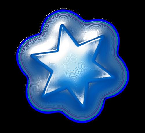 star glow blue