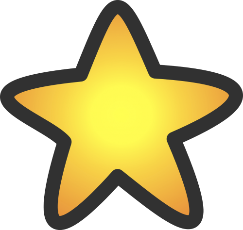 star yellow symbol