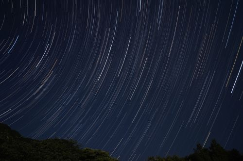 star stars trajectory night