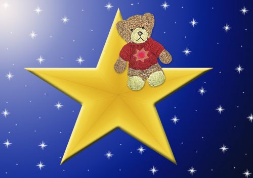 star starry sky bear